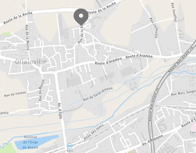 Map des alentours d'OLLAINVILLE