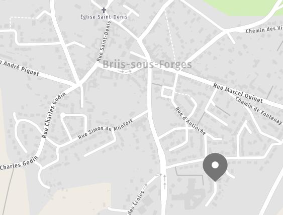 Map des alentours de Briis-sous-Forges