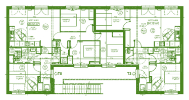 Premier plan d'un bâtiment utilisant le concept Bois-soleil