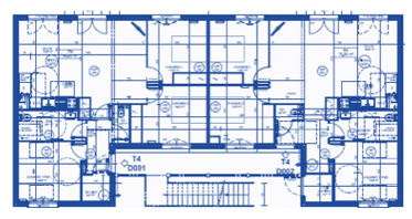 Deuxième plan d'un bâtiment utilisant le concept Bois-soleil